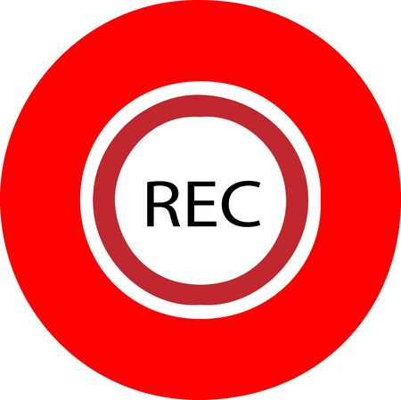 Rec icon isolated on background Imagens - 148268329
