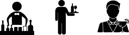 barman icon isolated on white background