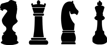 chess pieces icon isolated on white background
