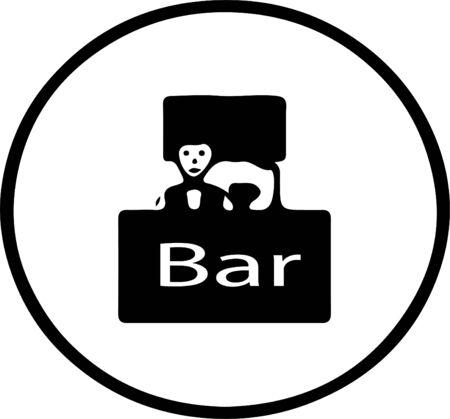 barman icon isolated on white background Vektorgrafik