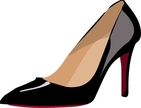 woman shoes icon isolated on white background Vektorové ilustrace