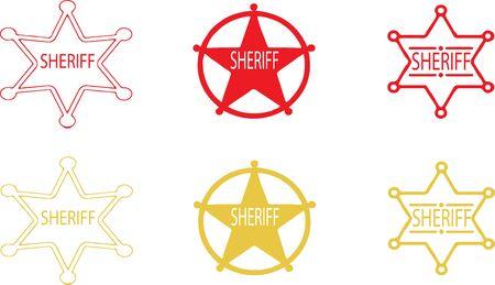 sheriff icon isolated on white background