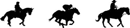 horsemen icon isolated on white background Ilustração