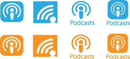podcast icon isolated on background