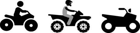 quad bike icon isolated on white background Vektorové ilustrace