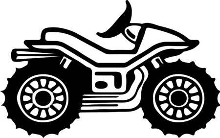 quad bike icon isolated on white background