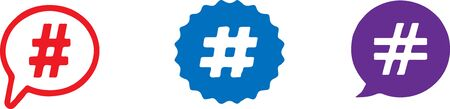 hashtag icon isolated on background Stock Illustratie