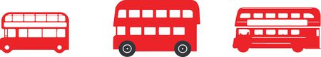 double decker bus icon isolated on background