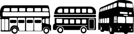double decker bus icon isolated on background Vektorgrafik