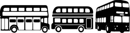 double decker bus icon isolated on background Stock Illustratie