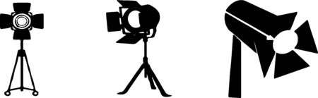 spot light icon isolated on background