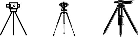 theodolite icon isolated on white background