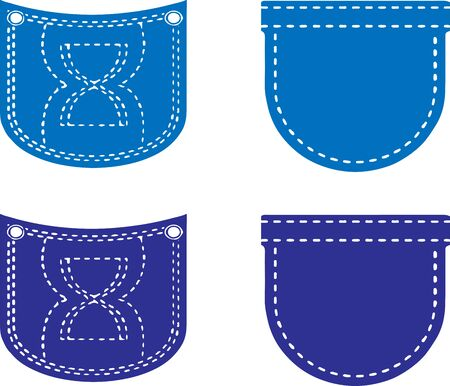 jean pocket icon isolated on white background Иллюстрация