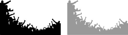 crowd people cheering vector isolated on white background Vectores