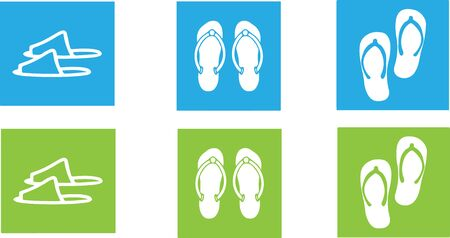 Slippers icon isolated on background