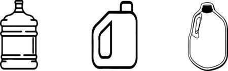 big bottle of milk icon isolated on white background