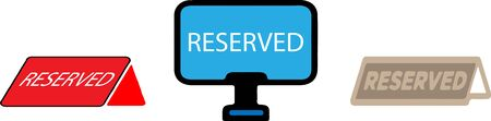 reserved icon isolated on background