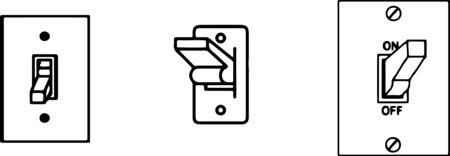 switch icon isolated on white background Illustration