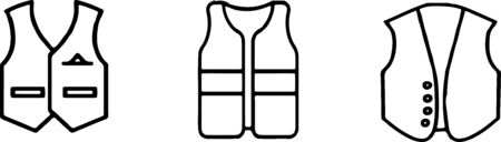 waistcoat icon isolated on background