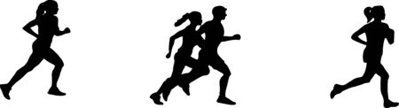 running icon isolated on background