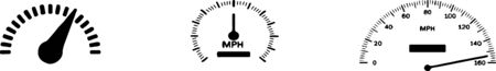 speedometer icon isolated on white background Illustration