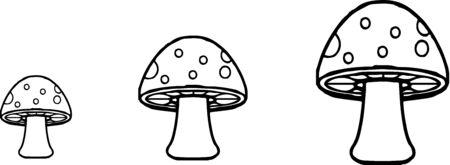mushroom icon isolated on background Ilustracje wektorowe