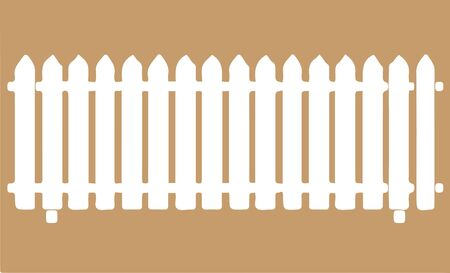 fence icon isolated on background  イラスト・ベクター素材