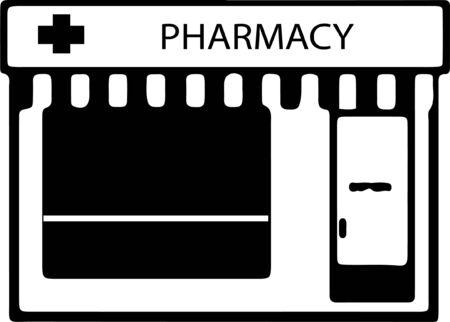 pharmacy icon isolated on white background