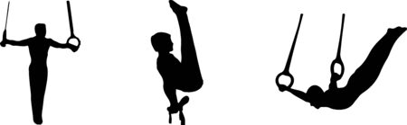 gymnastic icon isolated on background