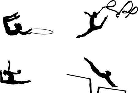 gymnastic icon isolated on background