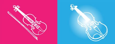 violin icon isolated on background