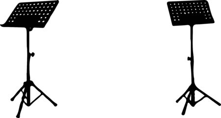music stand book icon isolated on white background