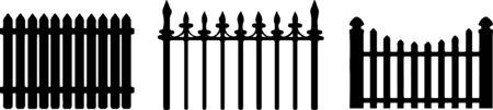 fence icon isolated on background