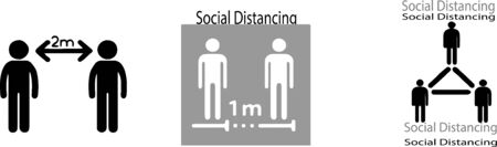 social distancing icon isolated on background Illustration