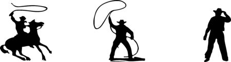 cowboy vector illustration on background Stok Fotoğraf - 149370729