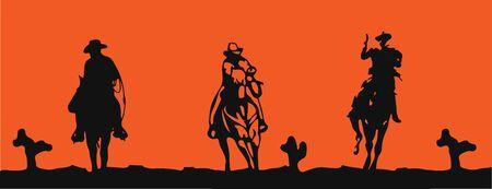 cowboy vector illustration on background Stok Fotoğraf - 149369826
