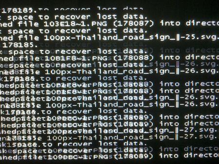 recover data in operating system Foto de archivo