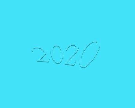 illustration of happy new year 2020 background Фото со стока