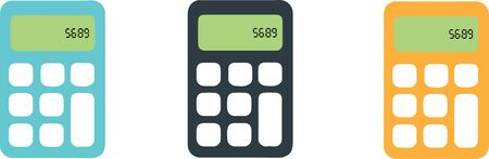 calculator icon isolated on background