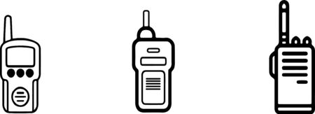 Portable radio icon isolated on background