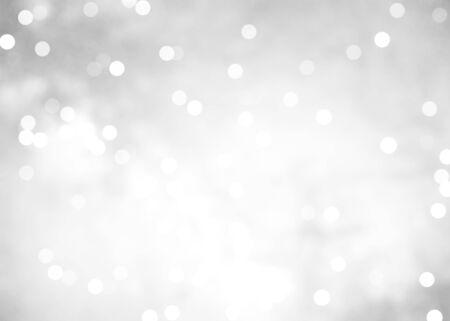 white and grey abstract bokeh background illustration Reklamní fotografie