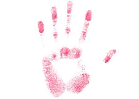 finger print illustration on white background 스톡 콘텐츠