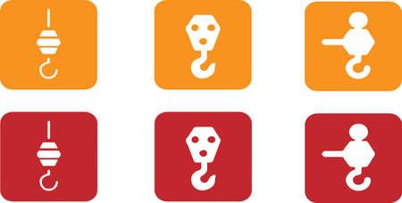 crane hook icon isolated on background Ilustración de vector