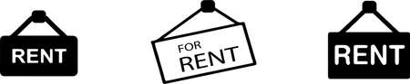 for rent icon isolated on background