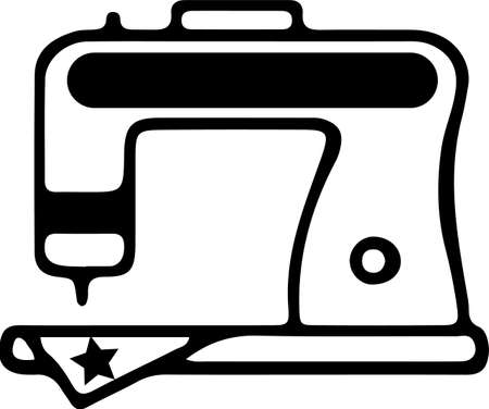 sewing machine icon isolated on background
