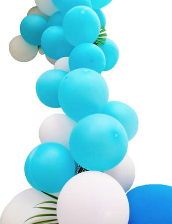 color balloons for decorate the place