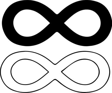infinity sign on white background 일러스트