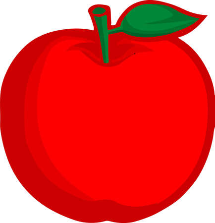 red apple icon on white background