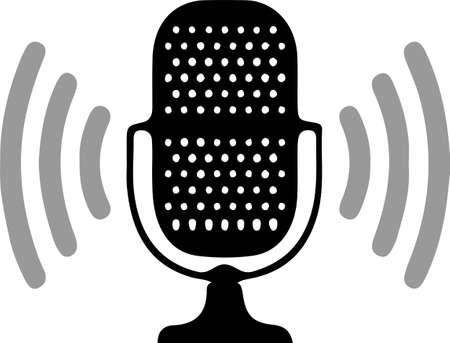 microphone icon isolated on background 向量圖像