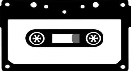 tape cassette logo on white background 일러스트